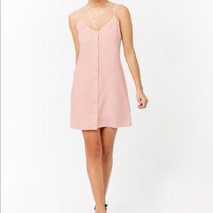 NWT, Blush Linen Button Up Dress